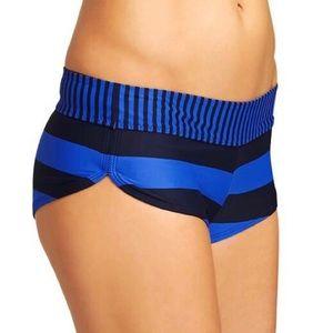 Athleta Stripe Blue Dolphin Swim Bikini Bottoms